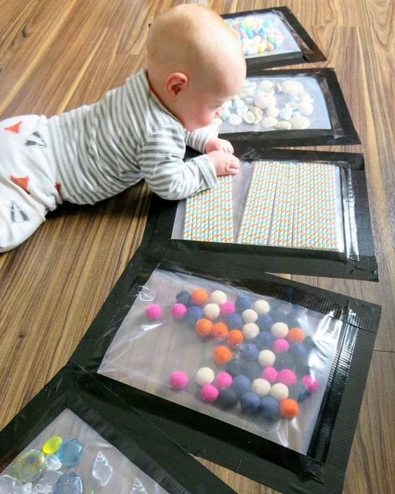 Find out how to make these texture bags for tummy time sensory play from  creativeplayideas