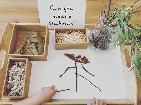Invitation to create a stick man