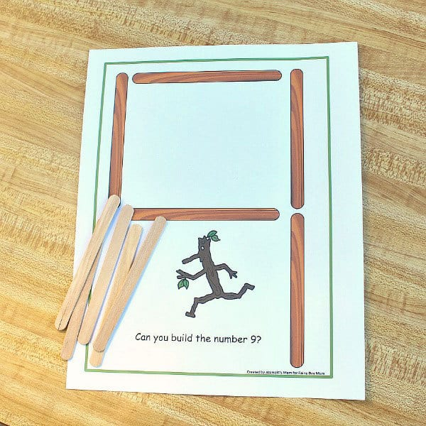 Building Numbers with Stick Man Steam Activity