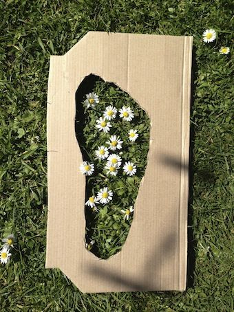 Outdoor Maths with footprint templates