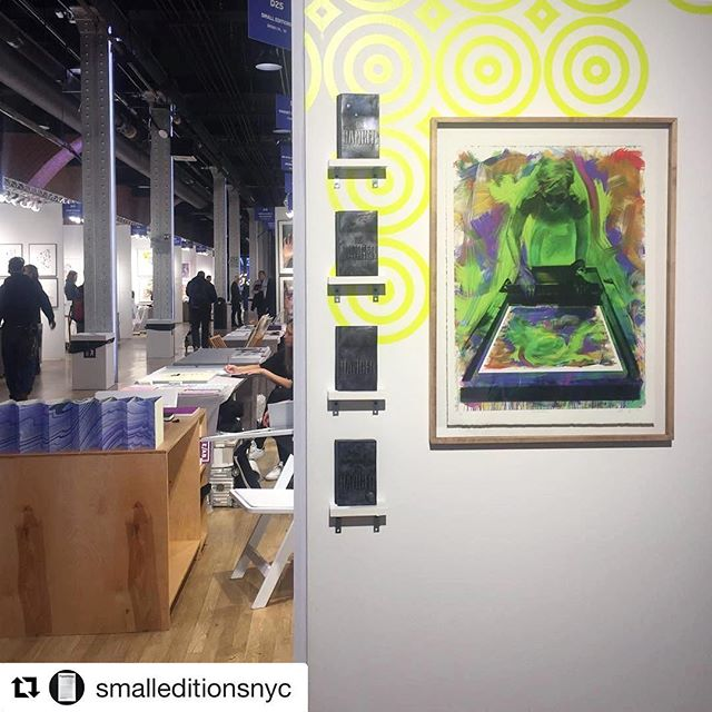 Check out the Small Editions booth at #eabfair2017! Featuring a print by Siebren Versteeg - produced at Navigation Press a couple years ago.  #SmallEditions #SiebrenVersteeg #NavigationPress ....... #Repost @smalleditionsnyc ・・・ #eabfair2017 it's almost time!