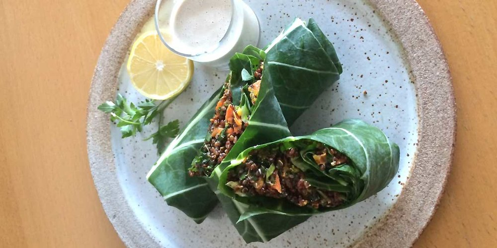 Quinoa Collard Wraps Vegan Los Angeles