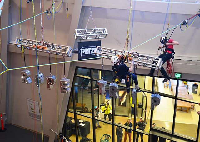 Petzl Rope Trip finals!! What a show. Amazing work by all teams.  Results on the way.  #petzlropetrip  #petzl  #ropeaccesstechnician  #ropeaccess  #ropeaccessprofessional  #rope #workingatheights  #pros