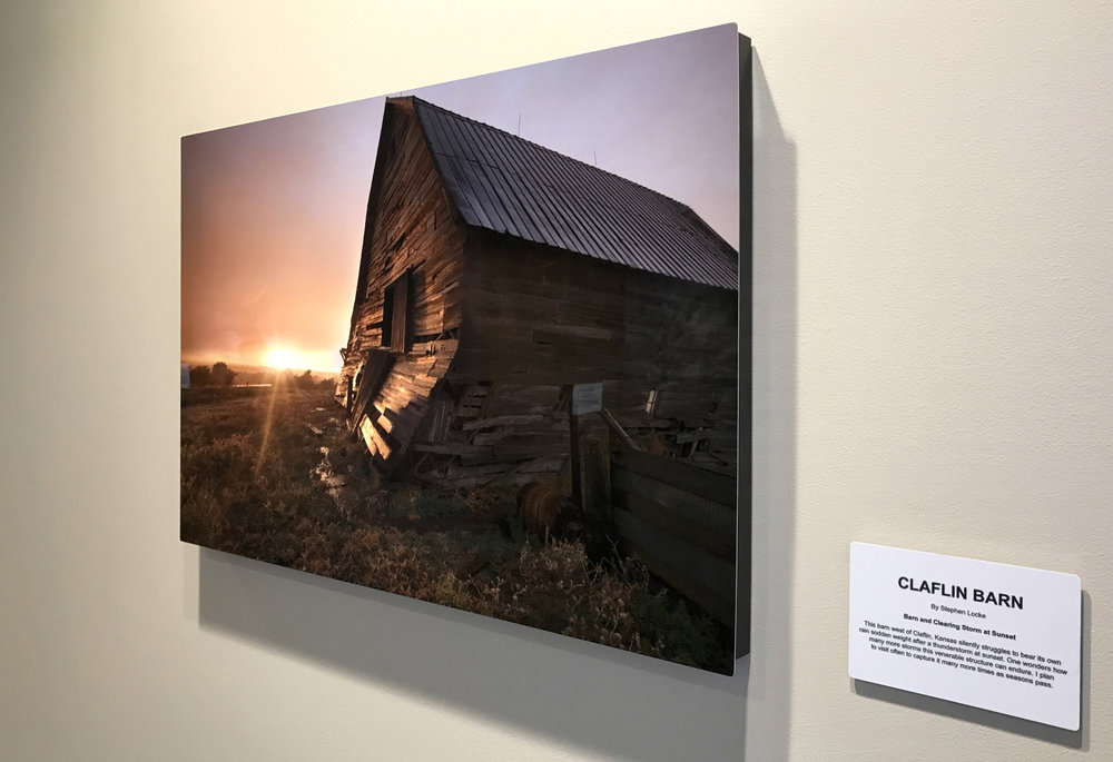 Claflin Barn in situ at KCB 20 x 30 on metal