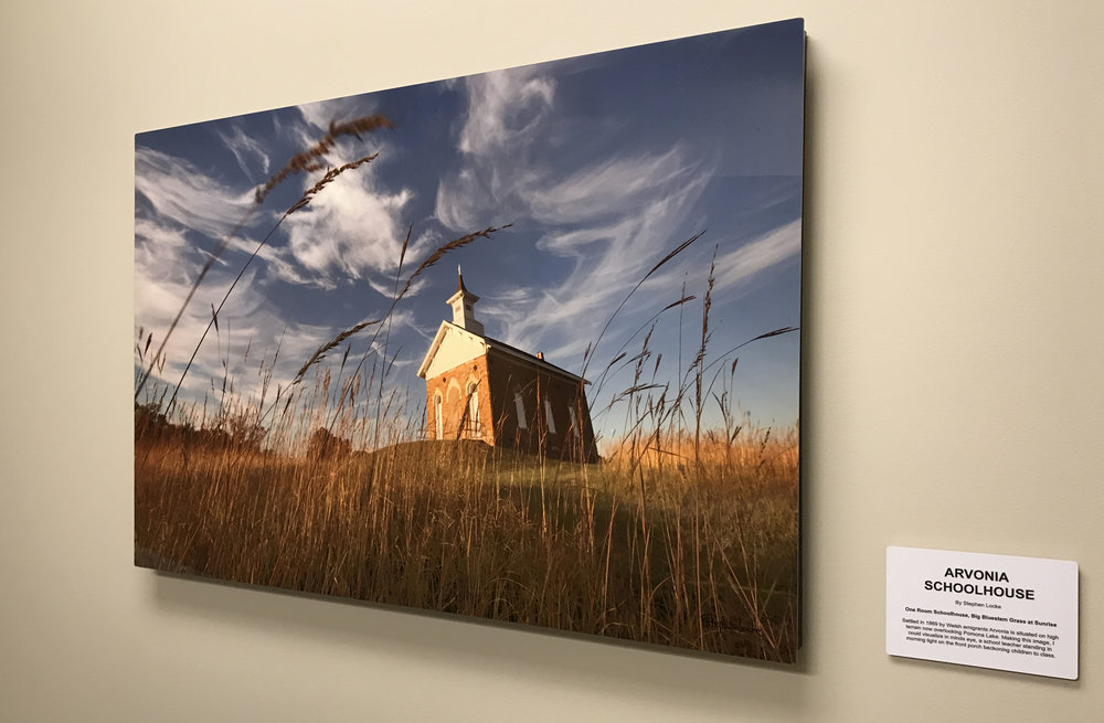 Arvonia Schoolhouse in situ at KCB 24 x 36 on metal