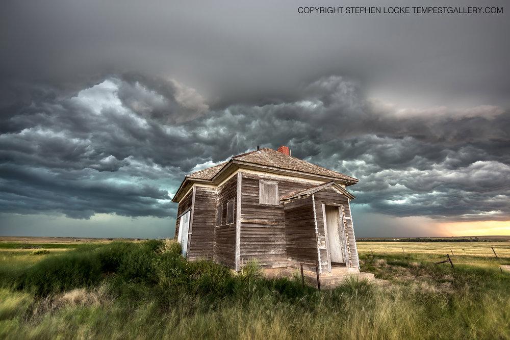 Cedar Bluff Schoolhouse by Stephen Locke