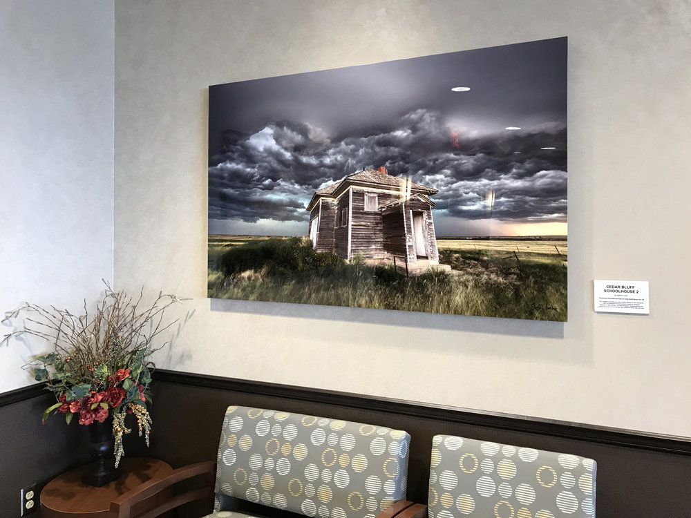 Cedar Bluff Schoolhouse in situ at KCB 60 x 40 on metal