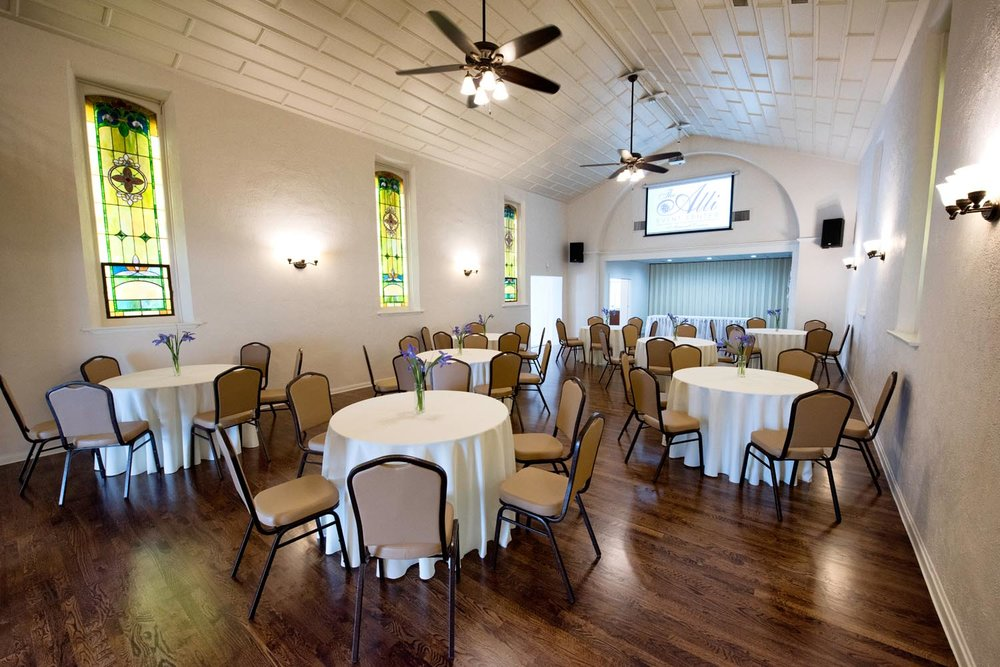 Our spacious interior and open back patio will accommodate a wide variety of events, parties, meetings and gatherings.