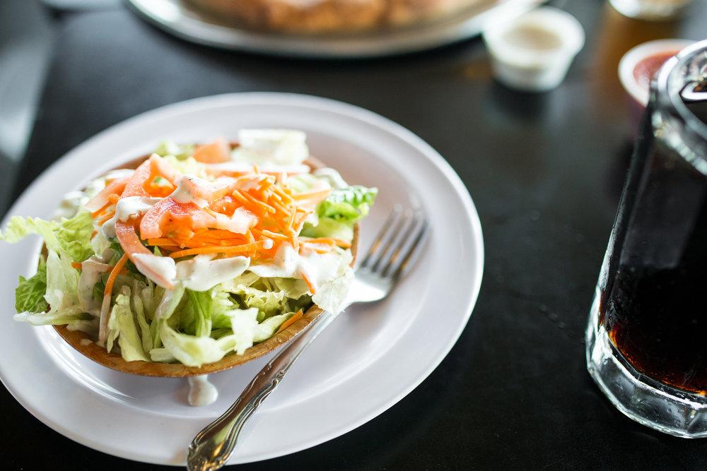 Vegan Dinner Salad with Vegan Ranch Dressing