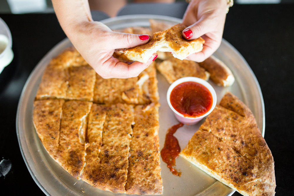 Vegan Cheese Pull-A-Parts with Vegan Pizza dipping sauce