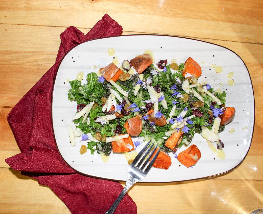 Squash & Kale Salad