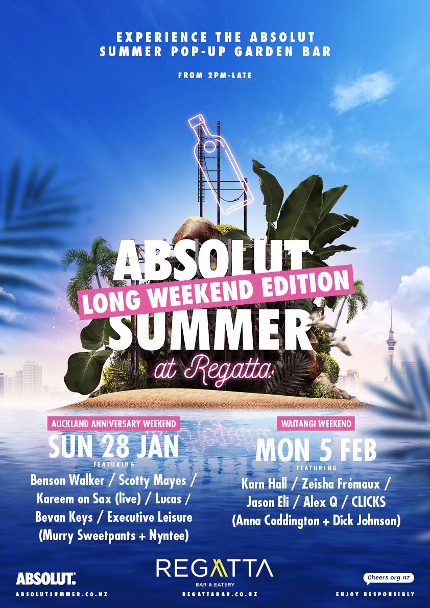 Absolut Summer Long Weekend Edition at Regatta