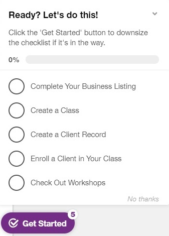 Schedulicity's onboarding tutorial for professionals