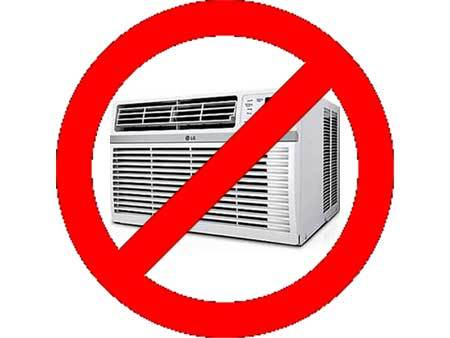 No AC or heating