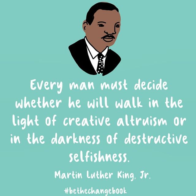 Wednesday's words of wisdom by MLK 💡Try practicing creative altruism and generosity this week and see what happens!🌟