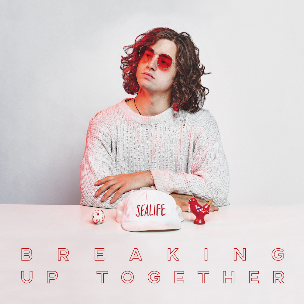 Artwork for Breaking Up Together, by Sealife. To be released on 9/3 by Look Up Records.
