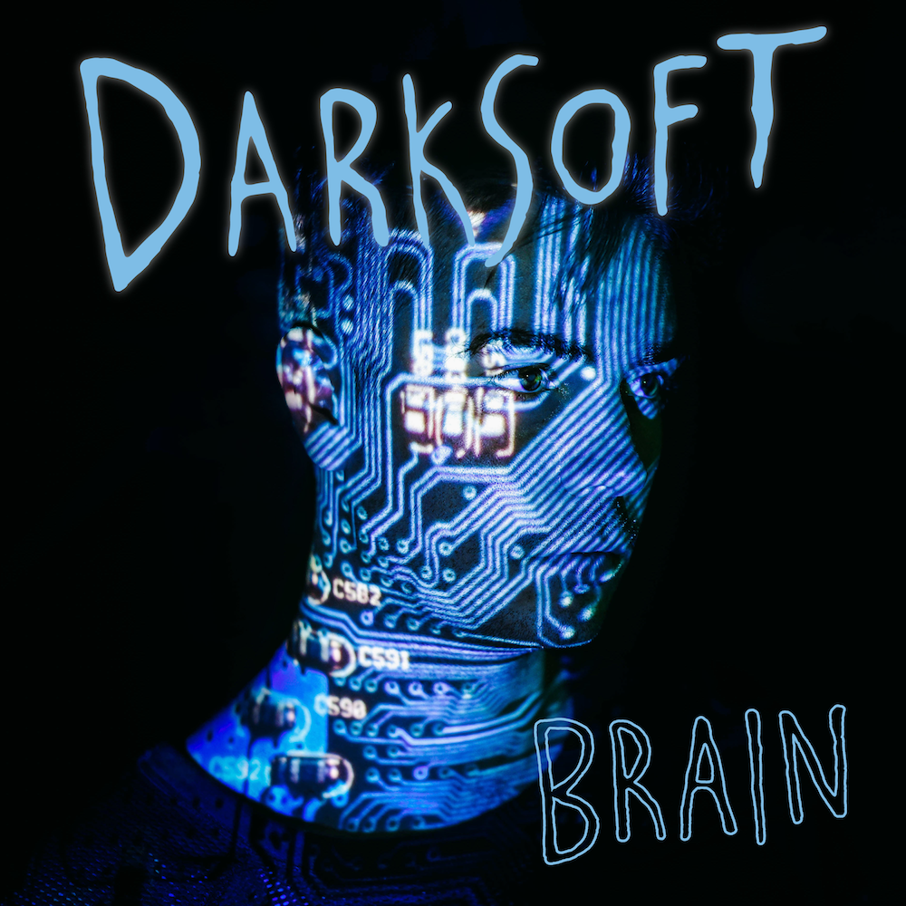 Album artwork for the debut Darksoft album Brain, out 10/26 on Look Up Records