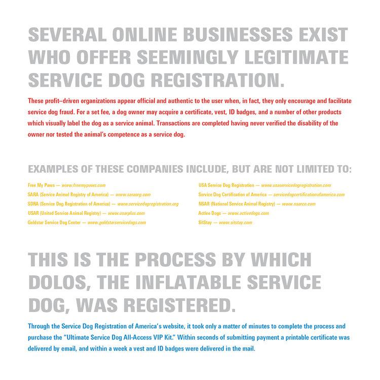 Service Dog Interference Evan Wirths Communication Design