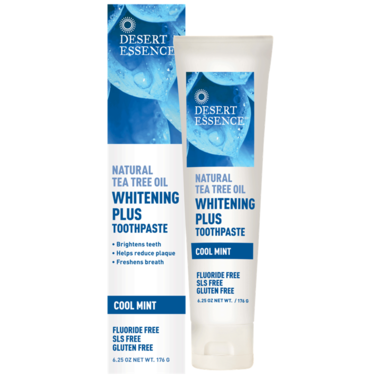 Desert Essence Whitening Plus Toothpaste With Tea Tree Oil Essence