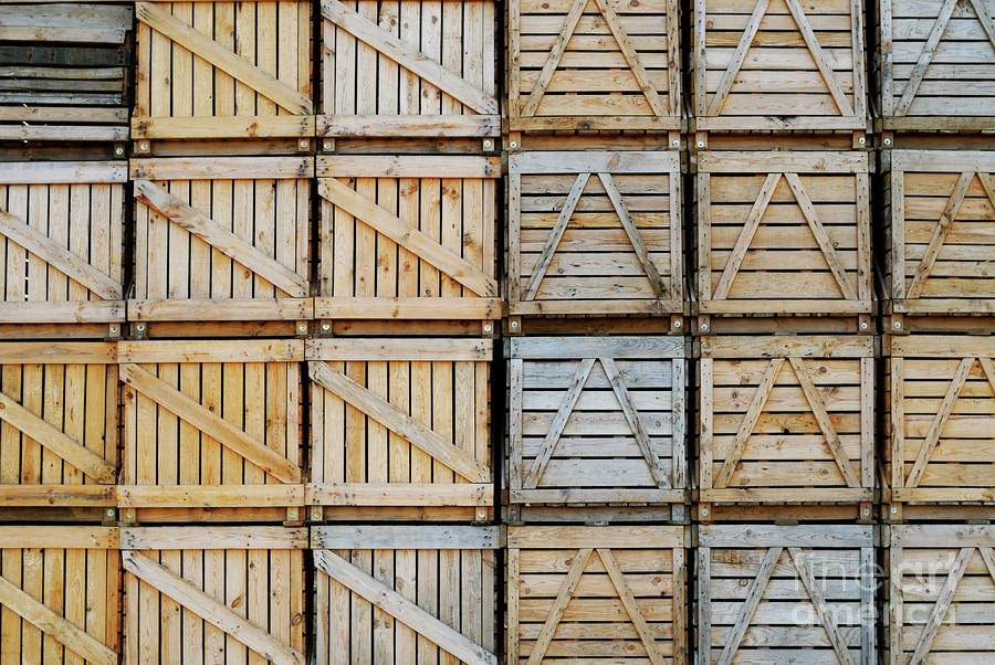 crates stacked wholesale