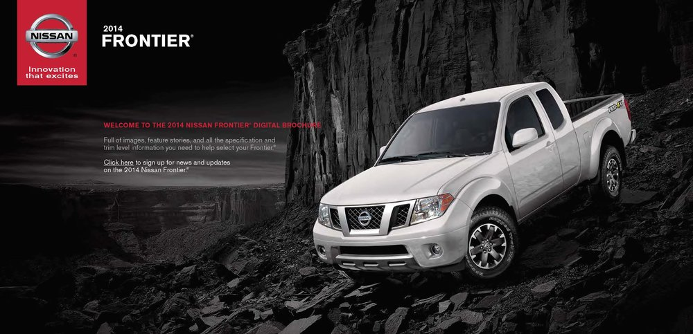 2014 Nissan Frontier Brochure Covers