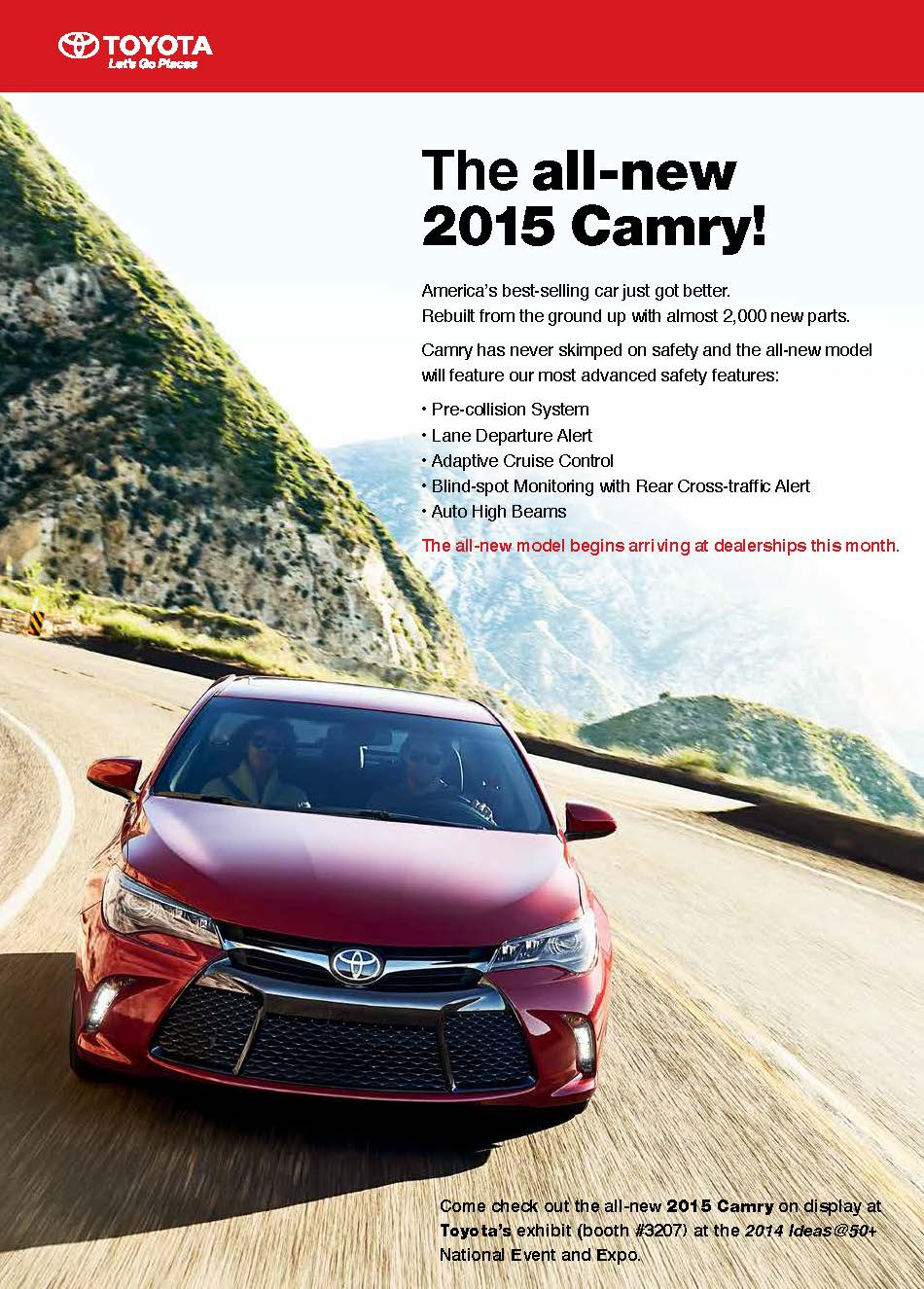 AARP Magazine ad for Toyota