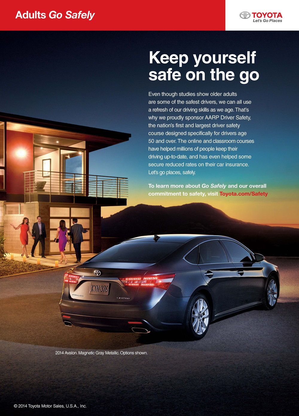 AARP Magazine ad for Toyota