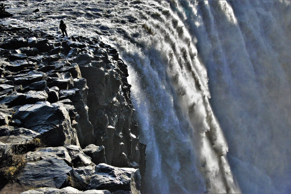 Extremely jagged rocks and a precipitous drop make Dettifoss one of the most formidable waterfalls in Iceland.