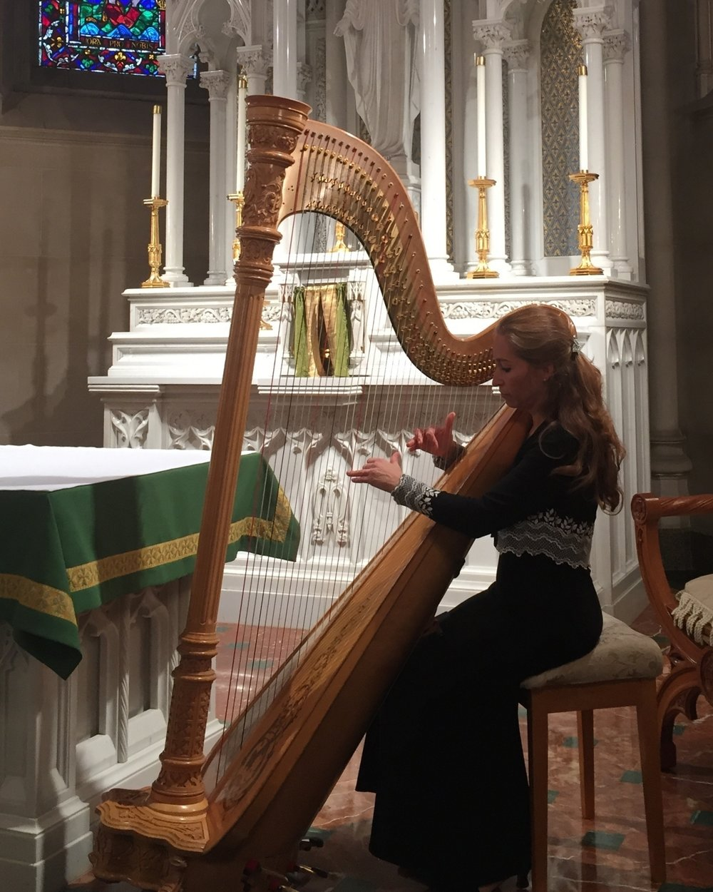 Performing at the Cathedral Basilica of the Sacred Heart.