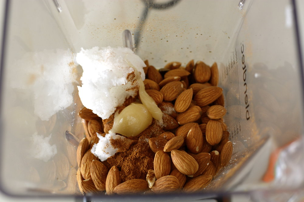 Add all ingredients to a food processor or power blender.