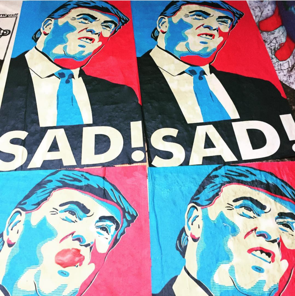 """Picture of President Trump saying """"sad"""""""