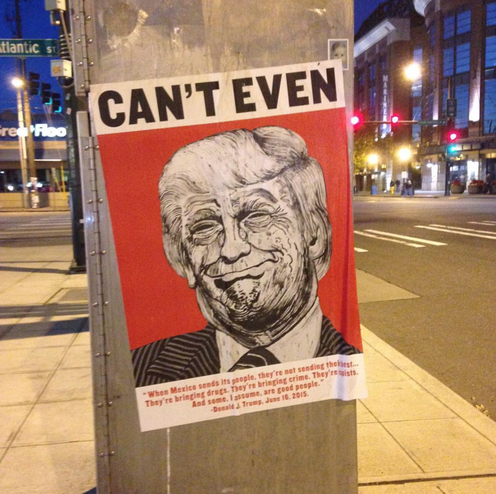 """Picture of President Trump saying """"Can't Even"""""""