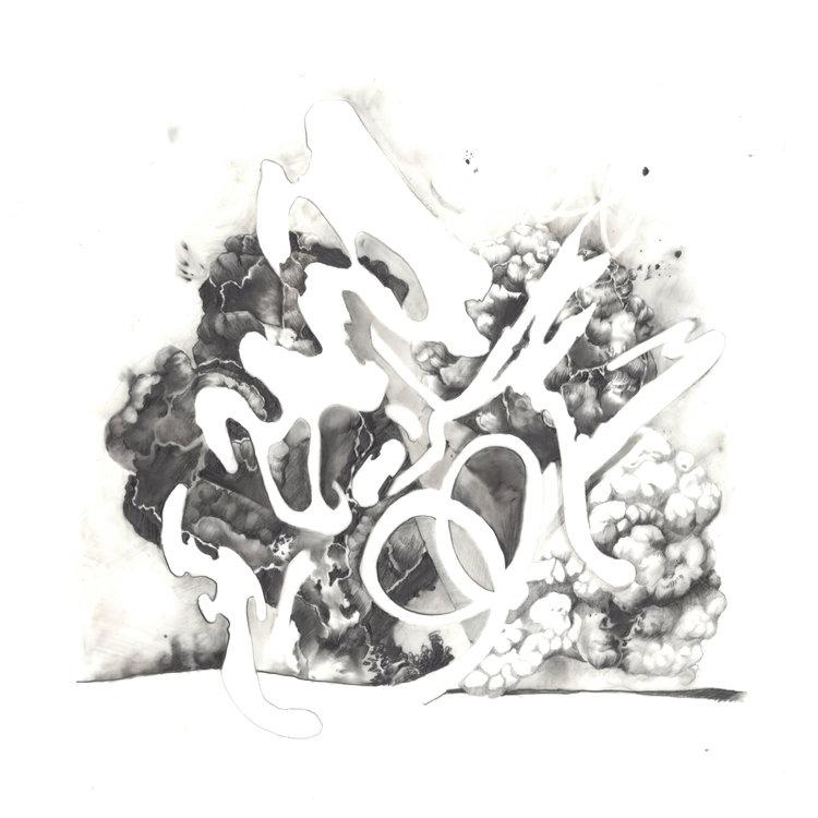 "Empty and Full, Graphite on mylar, 12""x12"", 2016"