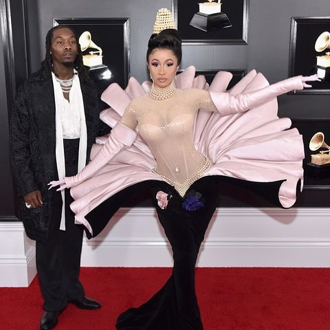 Congrats 🍾 to @iamcardib for making history being the 1st woman to win Best Rap Album on her first #GRAMMY win! Oh, and to @offsetyrn for getting a second chance to be with an icon, don't f*ck it up! 🌝