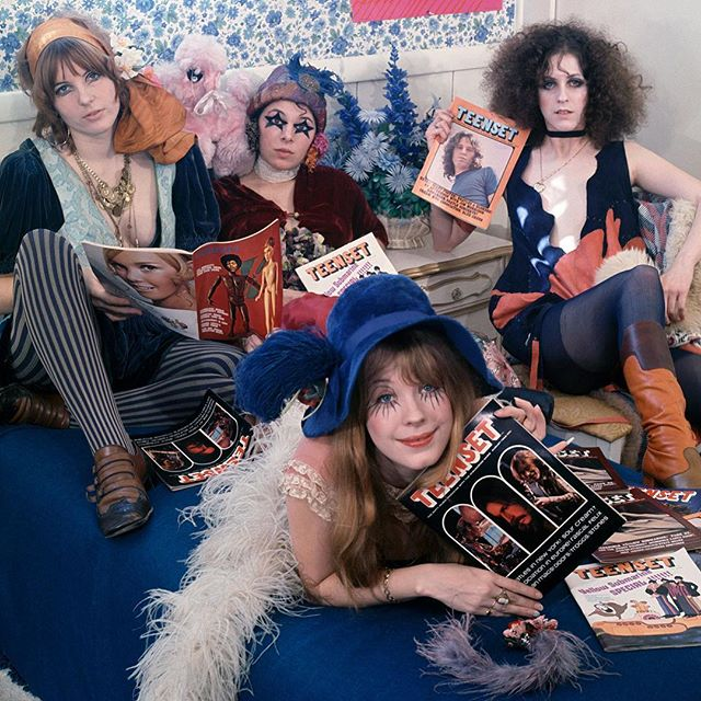 "#GTOs, aka Girls Together Outrageously, were a short-lived girl group made up of 60s rockstars most popular groupies. They were founded by Frank Zappa and served as inspiration for David Bowie and Alice Cooper. While most of the women didn't make it to old age, taken by the drugs and diseases of the free love movement, their only record ""Permanent Damage"" forever solidifies their fun spirit 🌈 #WomensHistoryMonth"