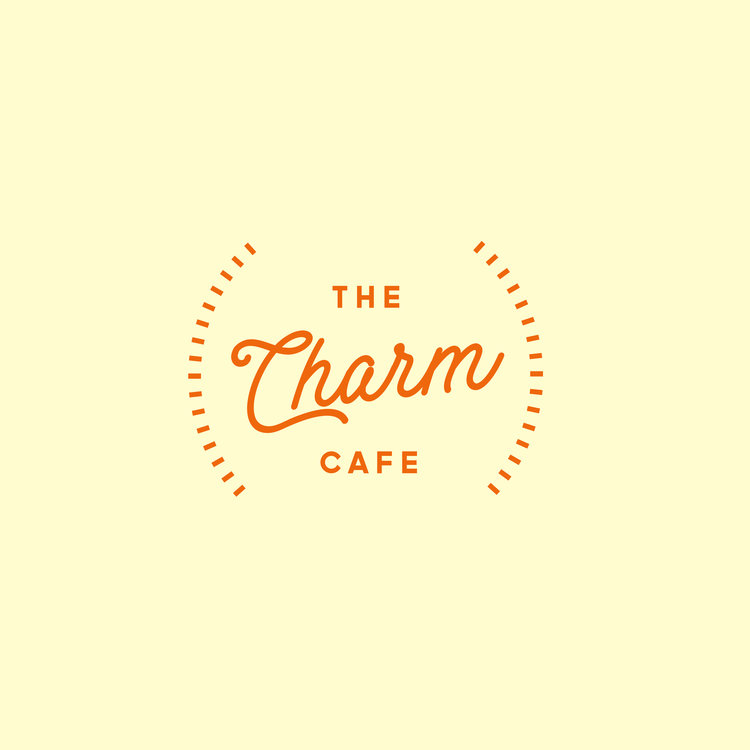- The Charm Cafe Logo