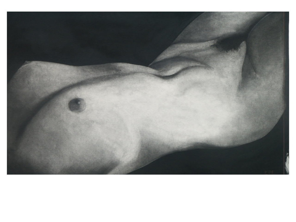 Nude charcoal on board