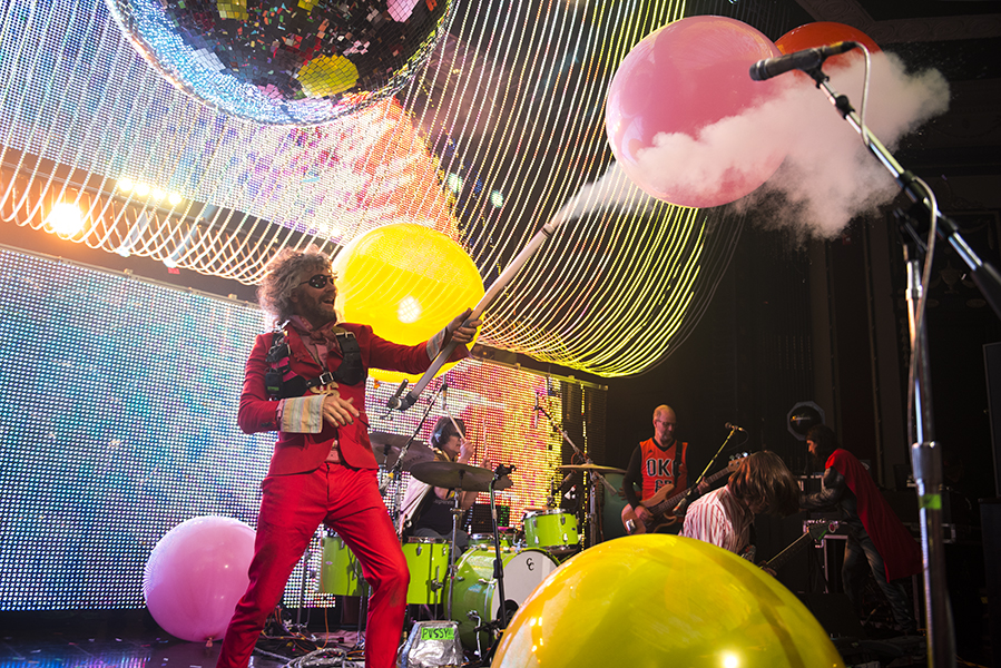The Flaming Lips kicking off their set with a bang.  PHOTO BY ALEX LUPUL