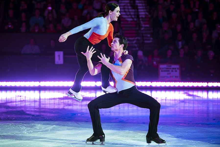 "Five-time Olympic Medallists Tessa Virtue and Scott Moir perform at the Meridian Centre in St. Catharines, ON, during their ""Thank You Canada Tour."""
