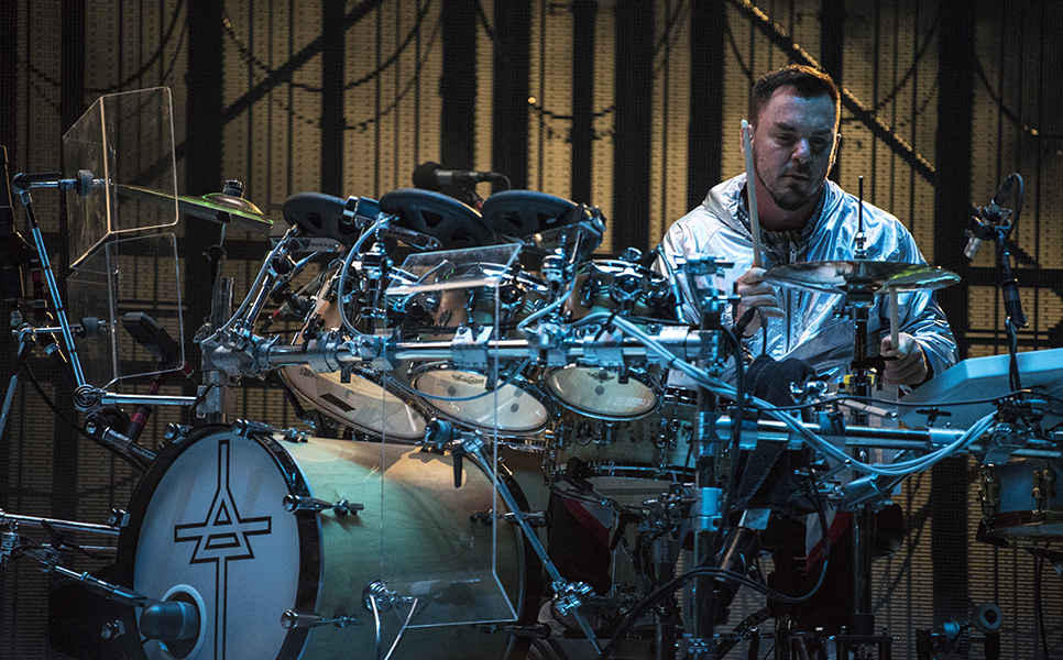 Drummer Shannon Leto performs in Toronto at Budweiser Stage.