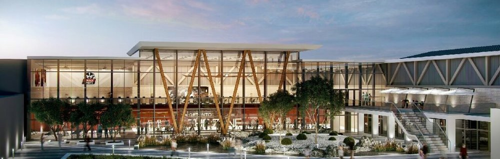 An artist's rendering of the proposed Zone fitness centre expansion.
