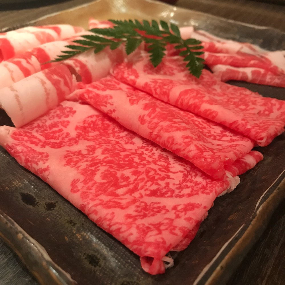 Kagoshima beef kurobuta pork