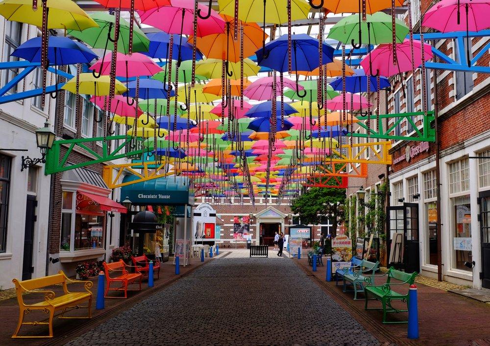 umbrella street huis ten bosch