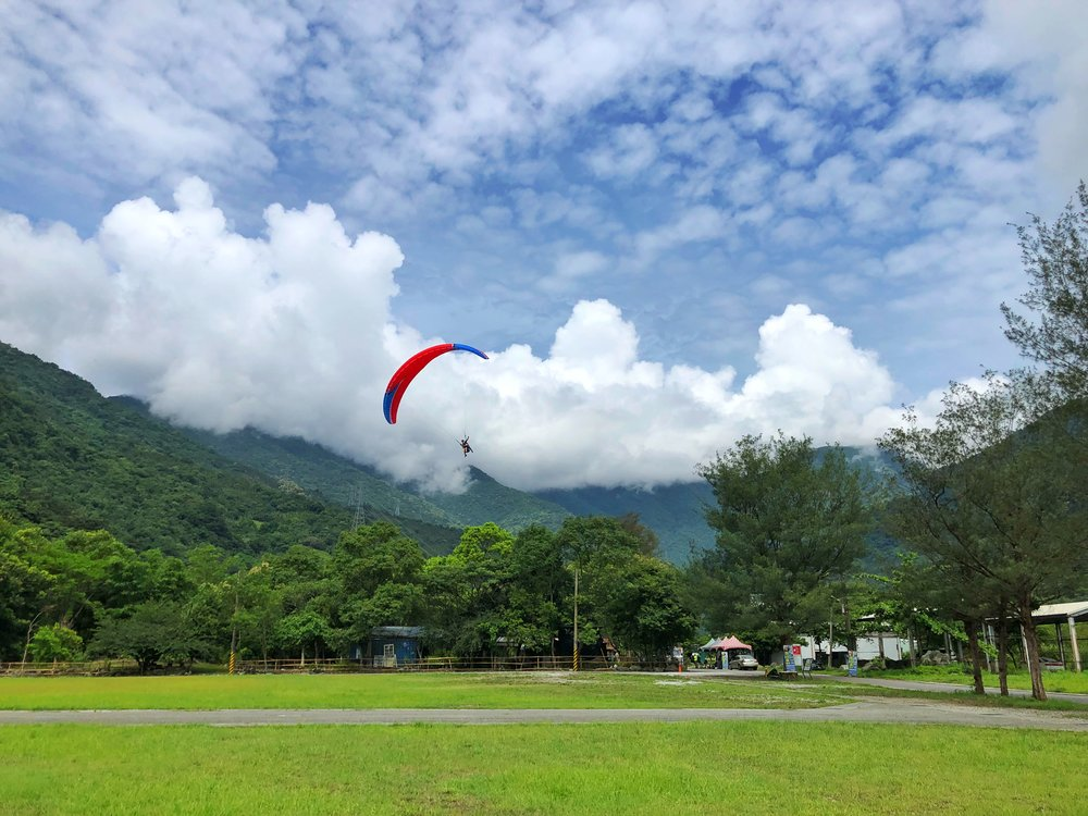 paragliding hualien east rift valley taiwan