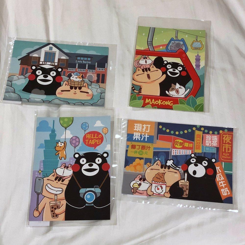 kumamon maokong postcard