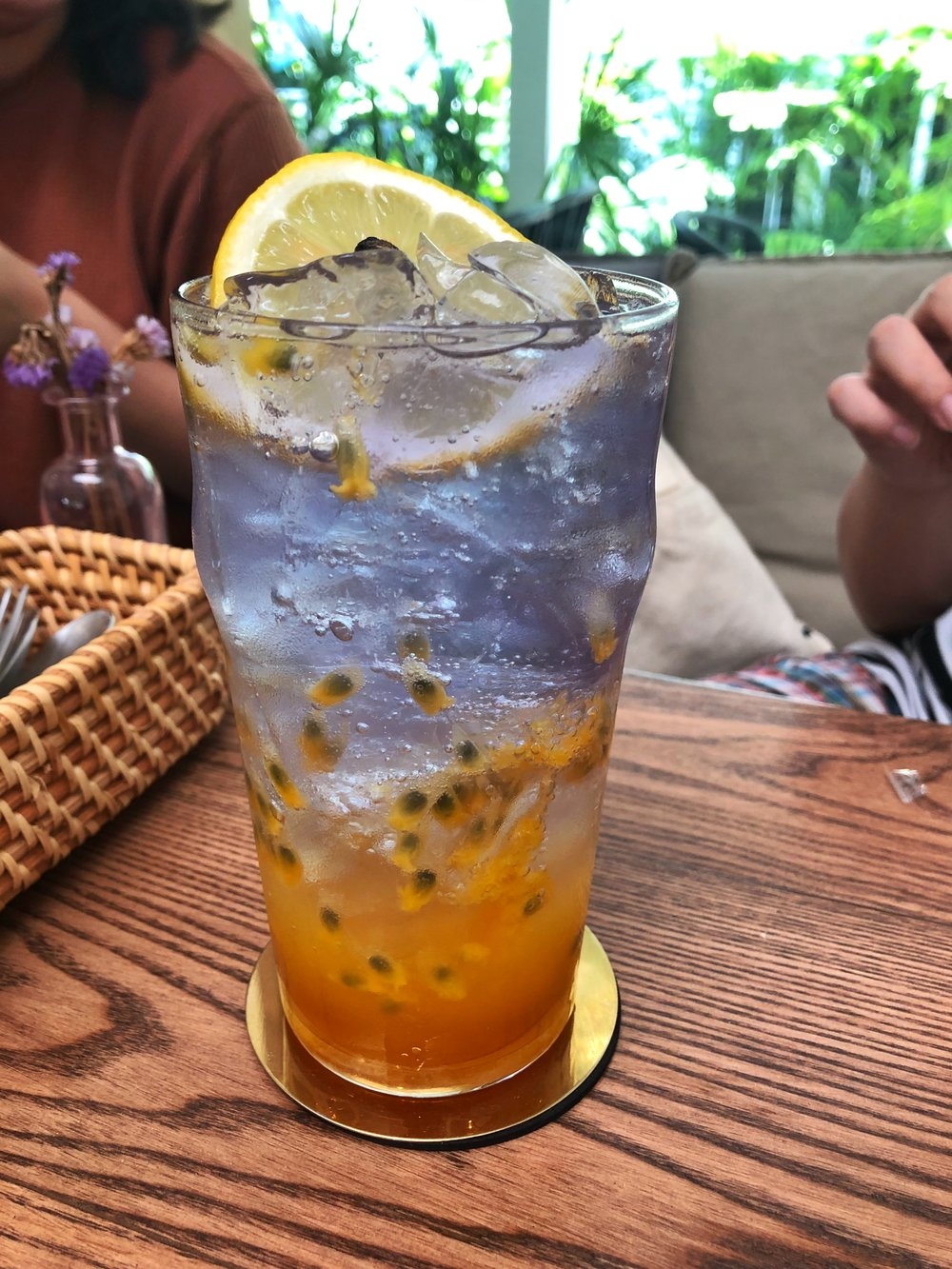 Busaba cafe & meal ayutthaya butterfly pea passion fruit soda