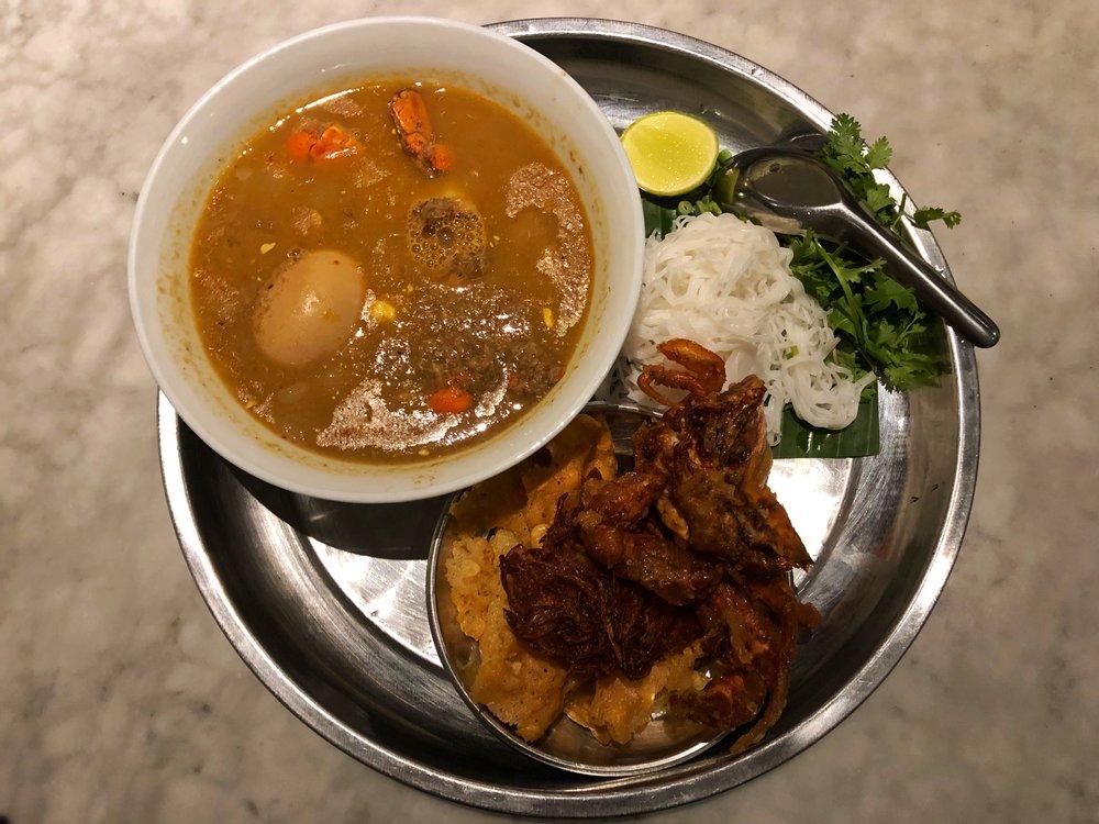 Rangoon tea house crab mohinga