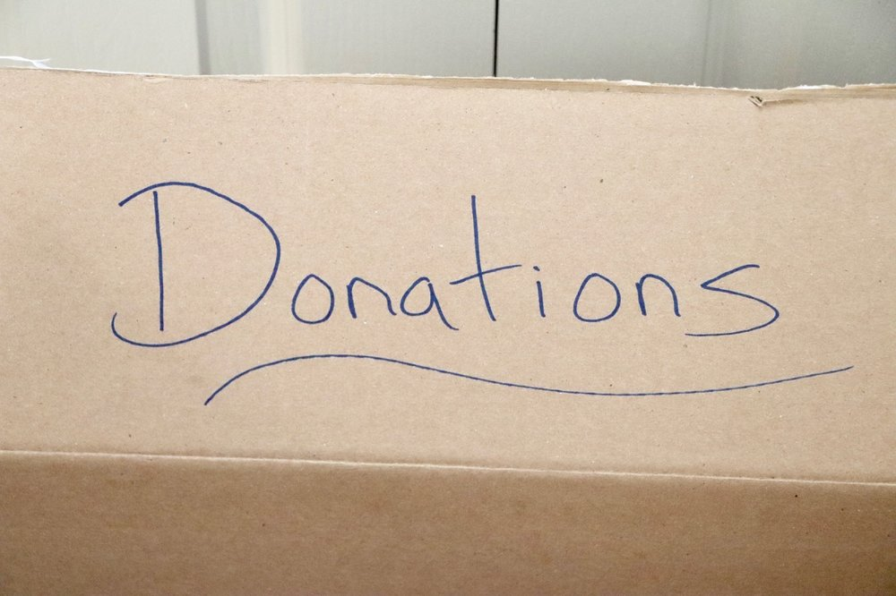 Donations box!  Photo by: Lighter Side Interiors