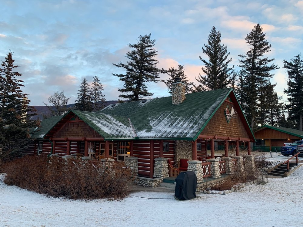 One of the beautiful rustic cabins at the Fairmont Jasper Park Lodge, Alberta, Canada. Photo by: Lighter Side Interiors