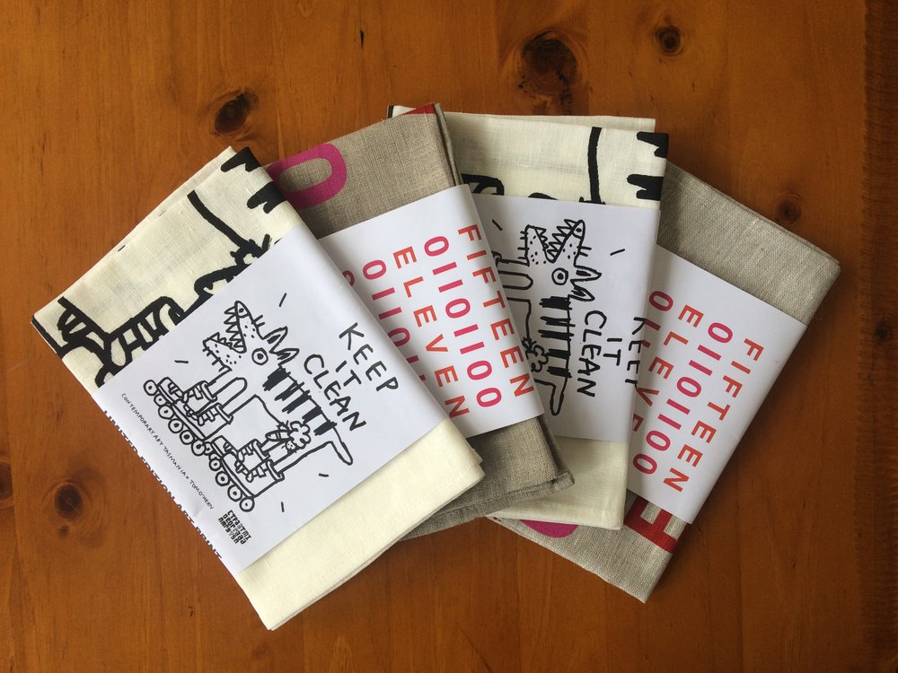 Contemporary Art Tasmania tea towels